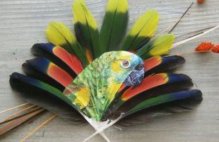 [視覺傳達]印地安風羽毛繪畫