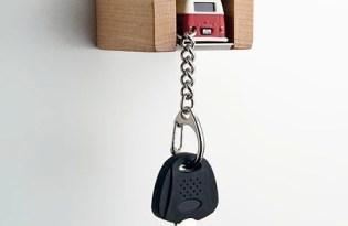 [產品設計]趣味車庫造型鑰匙架
