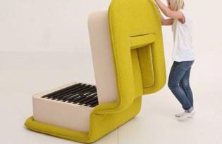 [家具設計]沙發單人床
