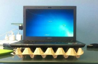 [趣味設計]雞蛋盒筆電散熱座