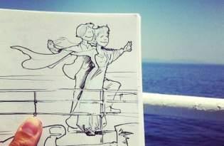 [圖文插畫]短篇旅遊繪畫說故事