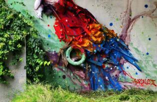 [裝置藝術]城市廢棄物插畫塗鴉