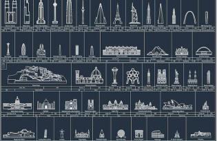 [海報設計]全球知名建築特輯