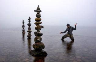 [攝影藝術]堆疊石頭裝置藝術作品