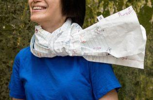 [產品設計]畫布「紙」圍巾