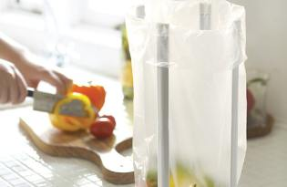 [廚具設計]廚房塑膠袋萬用支撐架