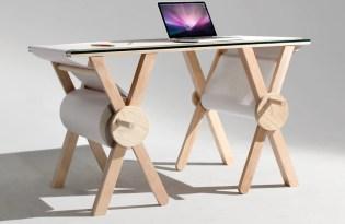 [家具設計]滾筒便條紙書桌「Analog Memory Desk」