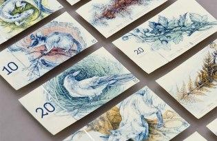[平面插畫]手繪風鈔票設計