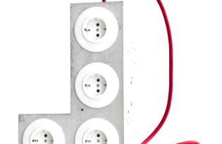 [產品設計]清水模水泥延長線插座「Tetriplug」