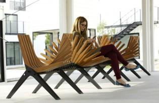 [家具設計]骨牌公共椅「Boomerang Bench」