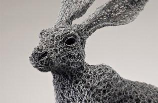 [設計工藝]鐵絲動物裝置藝術
