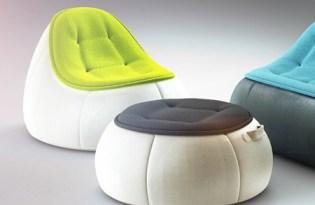 [家具設計]Redo皮革懶骨頭沙發