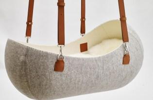 [產品設計]懸吊式皮革嬰兒搖籃