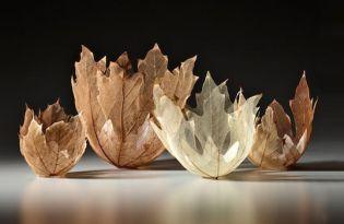 [工藝設計]葉片雕塑碗藝術