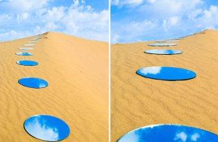 [視覺傳達]沙漠藍天鏡裝置藝術