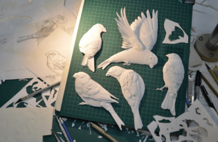 [平面設計]3D立體紙雕藝術