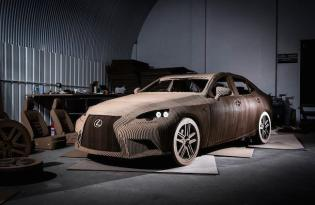 [設計工藝]Lexus瓦楞紙車