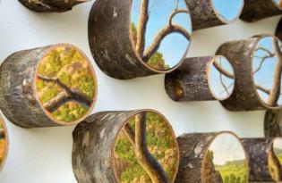 [視覺傳達]紐約設計「木紋切面藝術畫作」