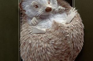 [設計工藝]動物紙雕視覺藝術