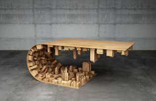 [家具工藝]Mousarris翻轉城市木桌設計