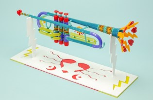 [裝置藝術]玻璃樂器視覺設計工藝