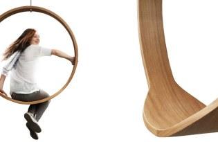 [家具設計]Swing Chair 圓月木環吊椅