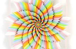 [工藝設計]立體幾何紙雕裝置藝術