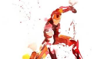 [插畫設計]Marvel英雄水彩畫藝術