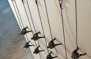 [文創家具]趣味攀岩小人裝置藝術