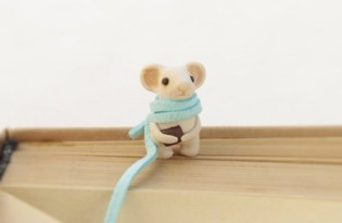 [文具設計]小老鼠針織書籤