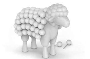 [文具設計]可愛綿羊圖釘組