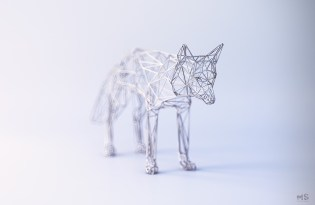 [金工設計]幾何鐵絲金屬裝置藝術