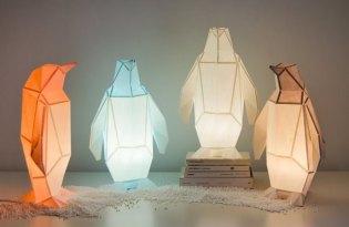 [家具設計]OWLpaperlamps動物摺紙檯燈