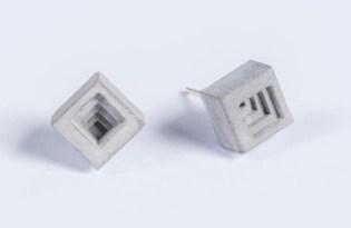 [工藝設計]印度出品「ELEMENTS混泥土耳環」