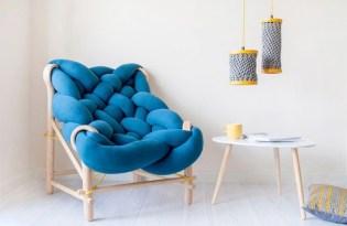[創意設計]針織工藝木椅家具