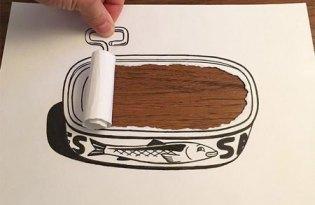 [平面設計]3D撕紙張插畫藝術