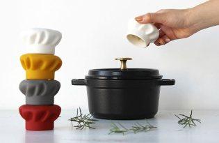 [廚具設計]防燙廚師帽鍋蓋