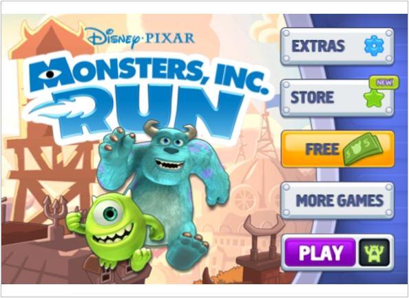 《APP》Monsters Run怪獸電力公司大爆走@怪獸大學電影即將上映‧動畫街機跑酷遊戲 - FUNTOP資訊網