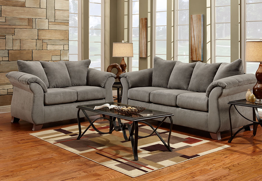 sofa bed living room sets bat the furniture warehouse sleeper inventory affordable sensation grey microfiber queen and loveseat 2 pc set
