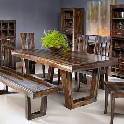 Kitchen Table With Bench And Chairs Discount Appliances The Furniture Warehouse Formal Dining Inventory Coast To Grayson Sheesham 4pc Set Two Side