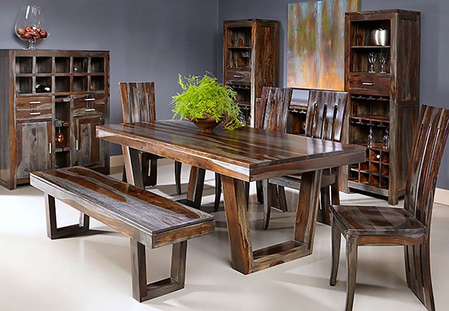 kitchen table with bench and chairs organizing ideas the furniture warehouse formal dining inventory coast to grayson sheesham 4pc set two side