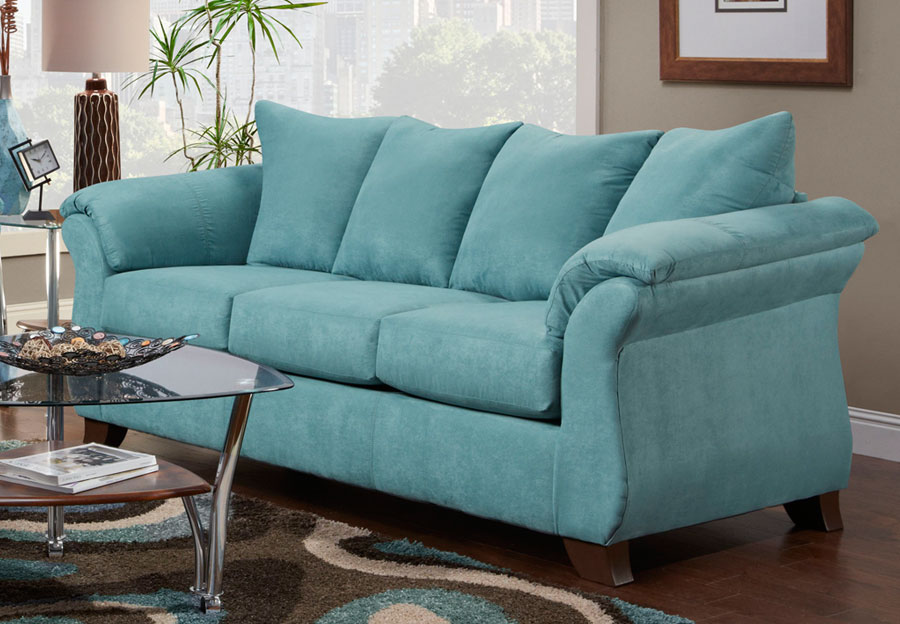 Teal Sleeper Sofa Customize And Personalize Roya B735