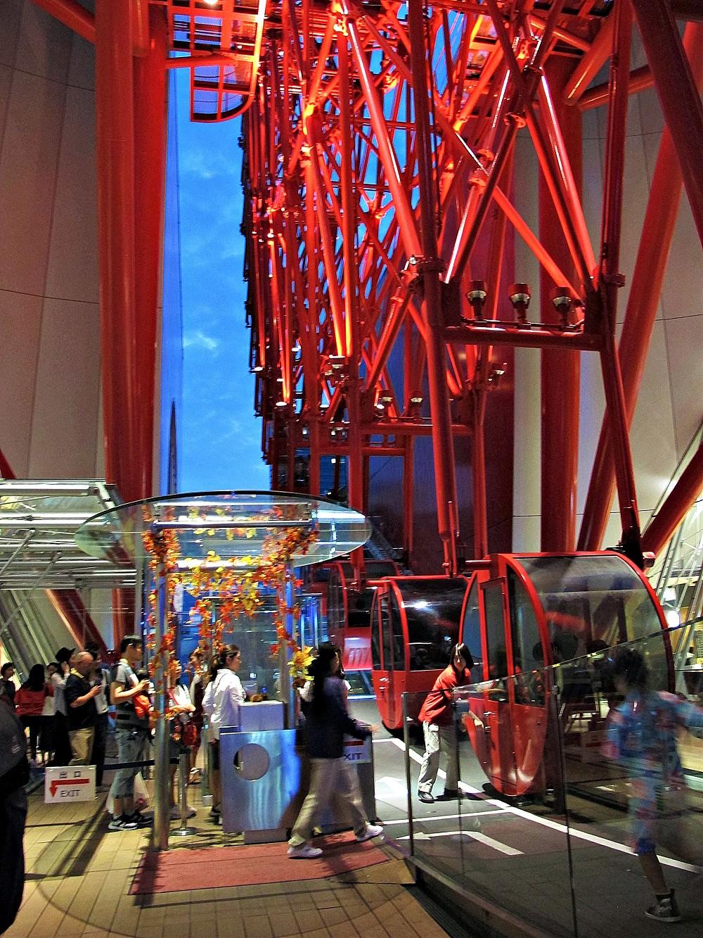 HEP FIVE 摩天輪:必去!大阪周遊卡免費景點,紅色亮眼,日落夜景好迷人!