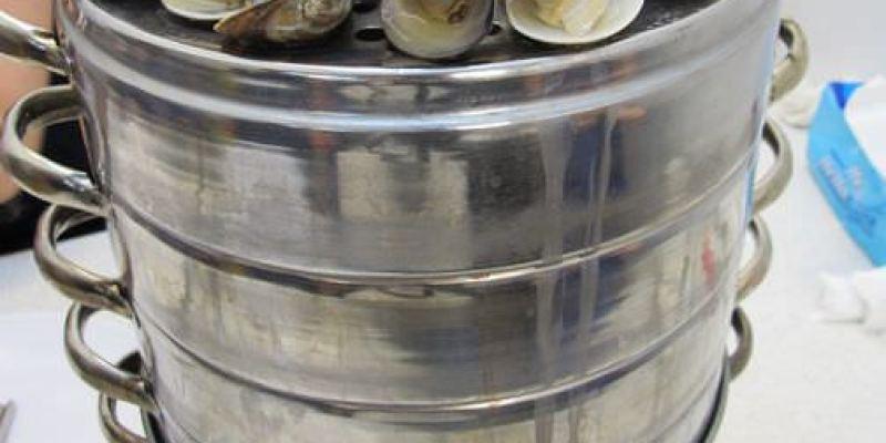 (OpenRice新店秘密客活動)(台南。南區美食)『双月牌沙茶爐 牛肉/豬肉/海鮮塔-全台創始店』 來自韓國的海鮮塔,蒸烤火鍋層層疊高,超壯觀!