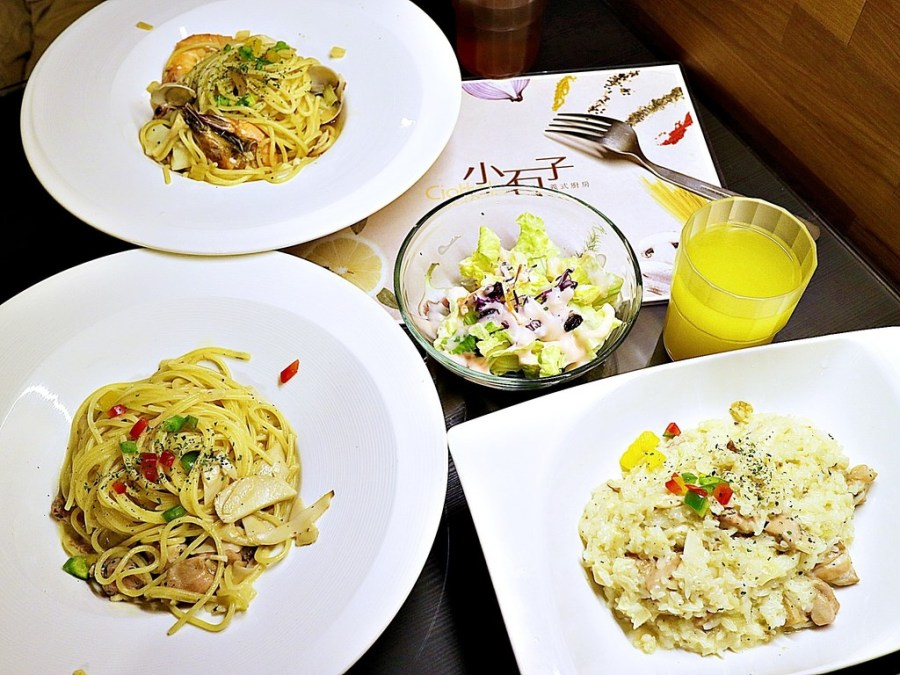 Ciottolo小石子義大利麵:德安百貨B1美食街的美味義大利麵|大推青醬&清炒口味|近台南市立文化中心,台糖長榮桂冠酒店