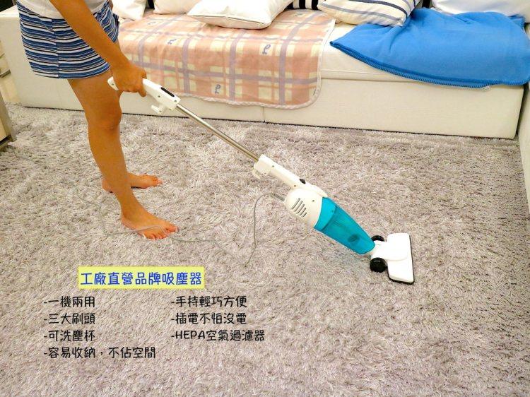 居家生活好物分享:平價必買款『工廠直營品牌吸塵器』|醫用HEPA過濾塵氣分離|輕巧,好收納,三刷頭可替換|