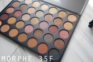 彩妝|Morphe 35F – FALL INTO FROST EYESHADOW PALETTE 開箱試色,眼妝試化