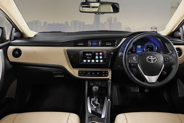 new corolla altis launch date in india grill jaring grand avanza toyota images check interior exterior pics gaadi engine start stop button dashboard view