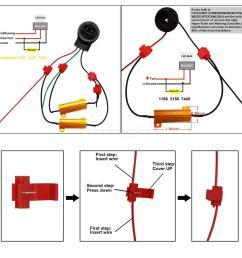 2pcs 1157 1034 white 6000k amber front turn signal light bulb load resistors [ 1200 x 1200 Pixel ]