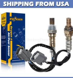 2x air fuel ratio oxygen sensor up downstream for 02 03 04 acura rsx type s 2 0l [ 1200 x 1200 Pixel ]